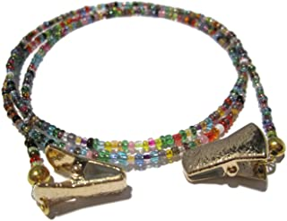 Eyeglass Chain for Women - Beaded 32 Colors Gold Clip - Glasses Chain - Eyeglass Strap - Eyewear Retainer - Sunglass Lanyard