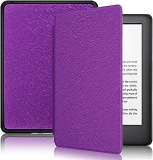 Capa + Pelicula para Novo Kindle Basico 10a. geração com iluminação embutida Função Liga/Desliga (Modelo J9g29r) (Roxo)