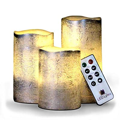 Battery Operated Flameless Candles Set of 3 Rou...