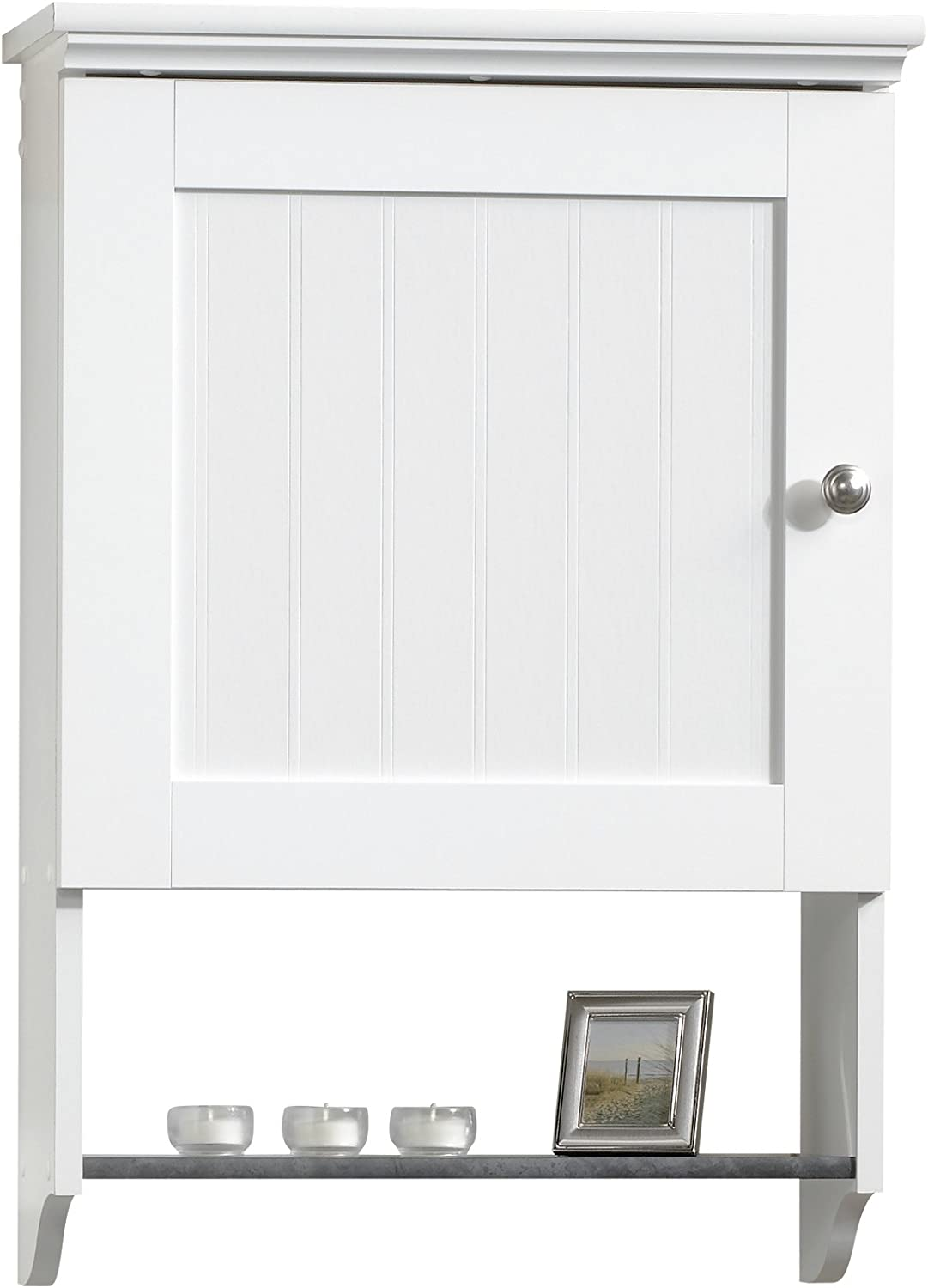 Sauder 414061 Caraway Wall Cabinet, L  19.92  x W  7.48  x H  28.74 , Soft White finish