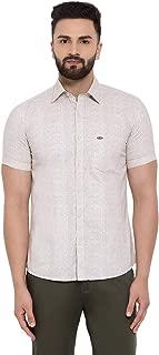Crimsoune Club Off White Printed Men's Shirt