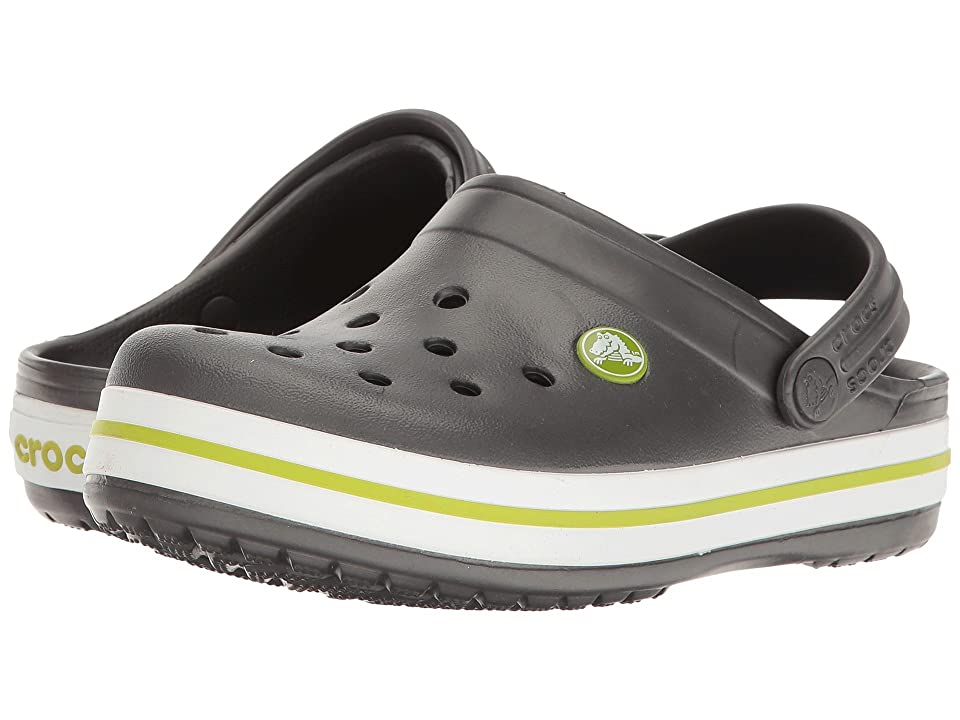 Crocs Kids Crocband Clog (Toddler/Little Kid) (Graphite/Volt Green) Kids Shoes