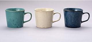 アイトー(Aito) マグカップ ホワイト・ネイビー・グレー 310ml ナチュラルカラー マグカップ(3色組)