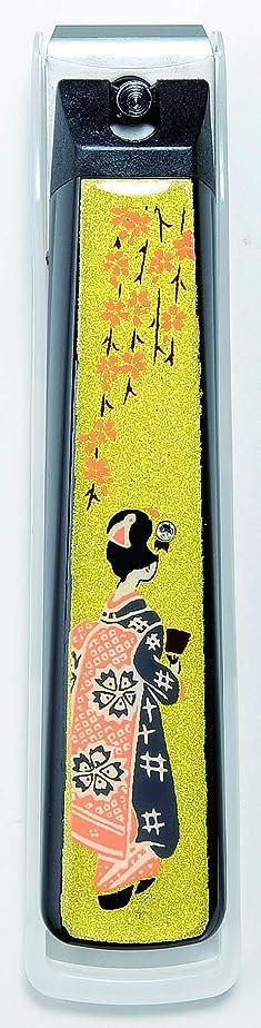 著作権グローバル妻蒔絵爪切り舞妓 紀州漆器 貝印製高級爪切り使用