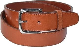 CTM Men's Leather Money Belt Removable Buckle, 38, Tan