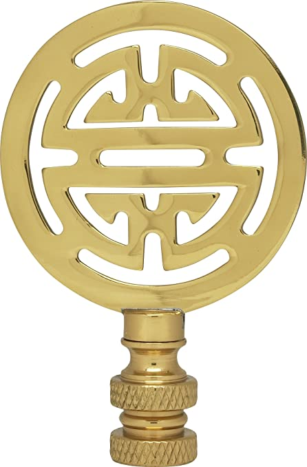 """Satco 90-132 Ball Finial; Burnished And Lacquered; 1-3//8/"""" Height; 7//8/"""" Diameter"""