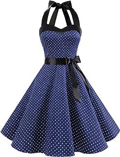 Best navy polka dot 50s dress Reviews