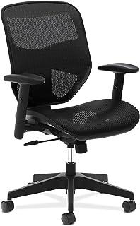 HON Prominent High Task Mesh Back and Seat Office Chair for Computer Desk, Black (HVL534), Swivel-Tilt