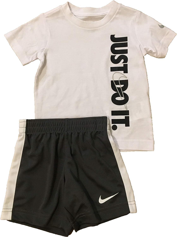 Nike depot Toddler Boys' T-Shirt and Gray Iron Max 79% OFF Shorts Set