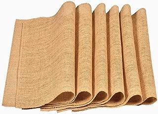 Eloine Linen Burlap Placemats Set of 12 Size 12