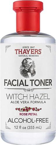 Thayers Tonificador sin alcohol con pétalos de rosa, hamamelis y aloe vera, 355 ml