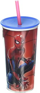 Zak Designs Insulated, Spiderman Homecoming, Screw-on Lid with Straw, Embossed Double Walled Tumbler, 0