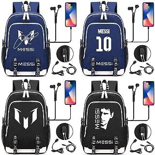 G32-18 44CMX30CMX15CM Football Star Messi 10 Sport numberUSB Boy Girl Book School Bag Women Teenagers Men Laptop Backpack Packsack