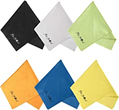 FIBER PROMOT 6 Pack Microfiber Cloths for Electronics,Phone,Screen,Camera,Glasses, Lens,Square,Glasses,Wipes,Optical,Computer,Laptop and TV Set Cleaning (12×12inches)
