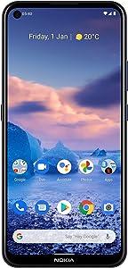 Nokia 5.4 | Android 10 | Unlocked Smartphone | 2-Day Battery | Dual SIM | US Version | 4/128GB | 6.39-Inch Screen | 48MP Quad Camera | Polar Night