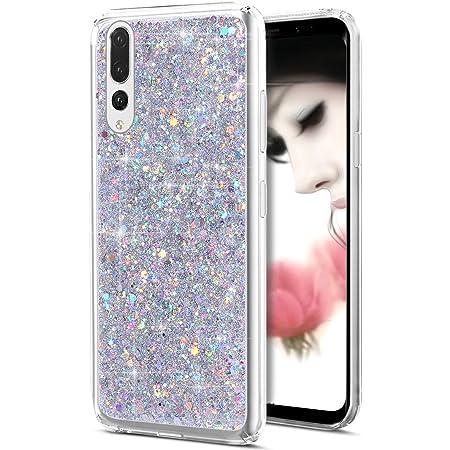 Cover Huawei P20 Pro,Custodia Huawei P20 Pro,Brillante scintilla Bling lucido glitter strass Cover Custodia Trasparente Morbida Silicone Sottile TPU ...