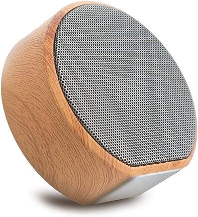 Altoparlanti portatili Altoparlante Bluetooth wireless Legno Grana portatile Mini Subwoofer Audio Stereo Altoparlante Sistema audio Supporto Tf Aux Usb (Color : Black, Set Type : Speaker) - Confronta prezzi