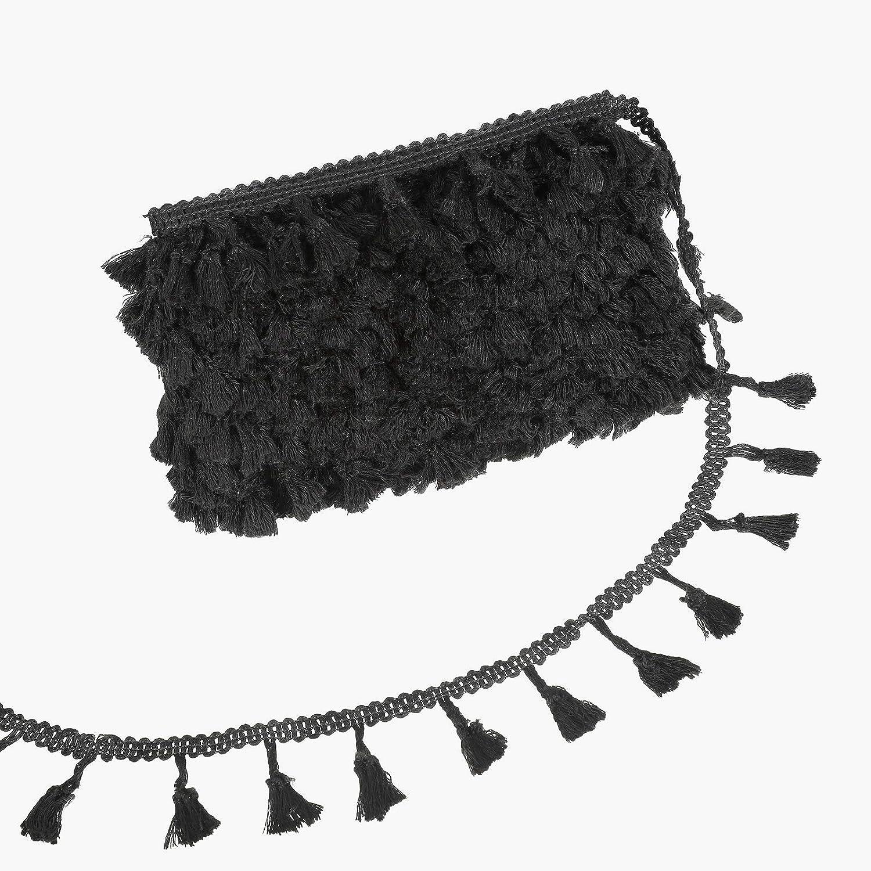 Borla de flecos manualidades y decoraci/ón del hogar beige, 50 yardas Cinta de encaje de algod/ón para accesorios de costura