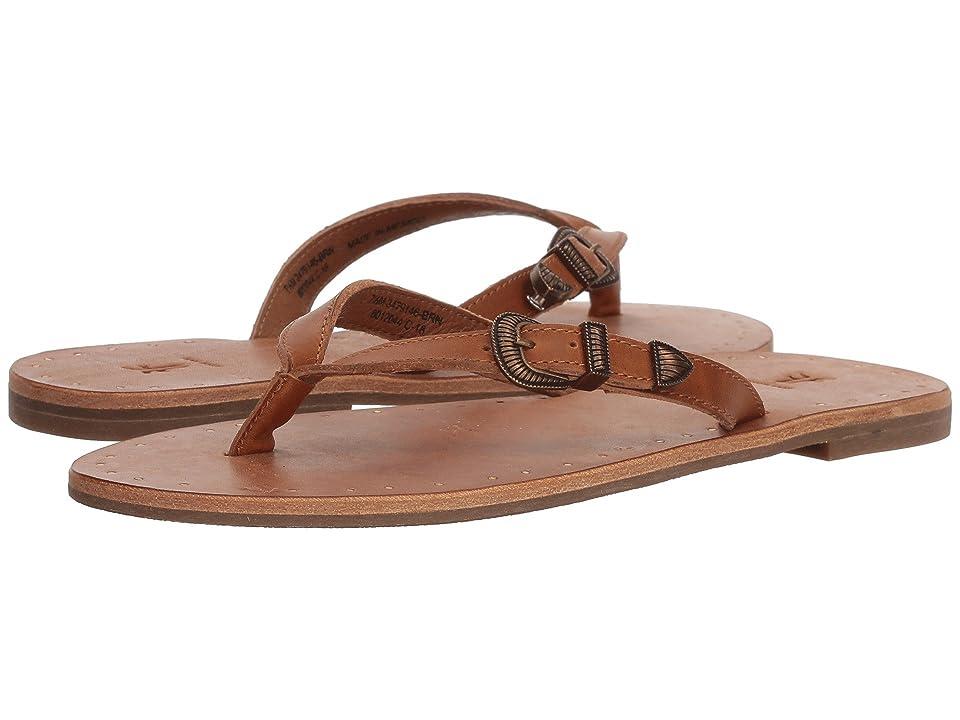 Frye Ally Western Flip-Flop (Brown) Women
