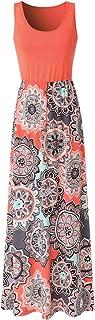 Zattcas Womens Summer Contrast Sleeveless Tank Top Floral...