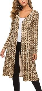 BLUETIME Women Long Open Front Drape Maxi Cardigan Long Sleeve Cardigan Lightweight Sweater
