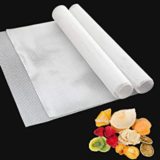 Pack of 6 Square Silicone Dehydrator Sheets, Non-stick Food Fruit Dehydrator Mats, Reusable Steamer Mat Mesh for Fruit Dry...