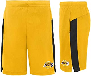 Genuine Stuff Los Angeles Lakers Youth NBA Grand Athletic Shorts - Yellow,