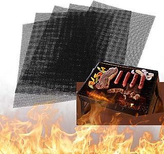 BBQ grill mat Antiadhésif, Tapis de Cuisson Set de 5 Tapis de Barbecue, feuille de cuisson reutilisable,feuille teflon,pou...