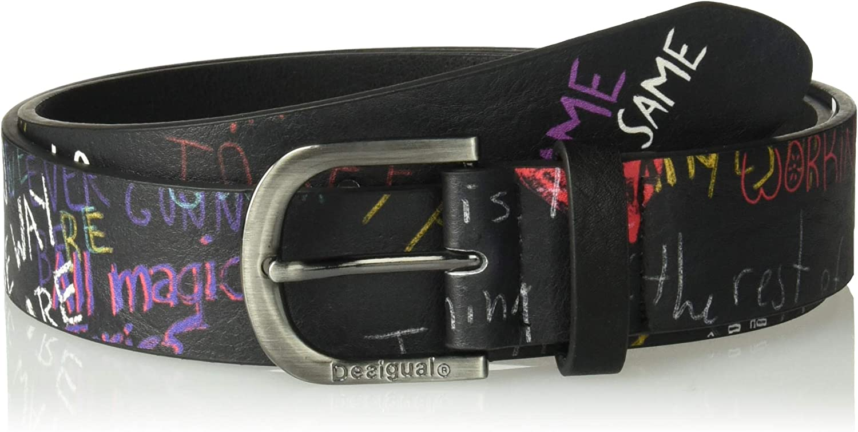 Desigual womens Cint_graffiti Wall Belt