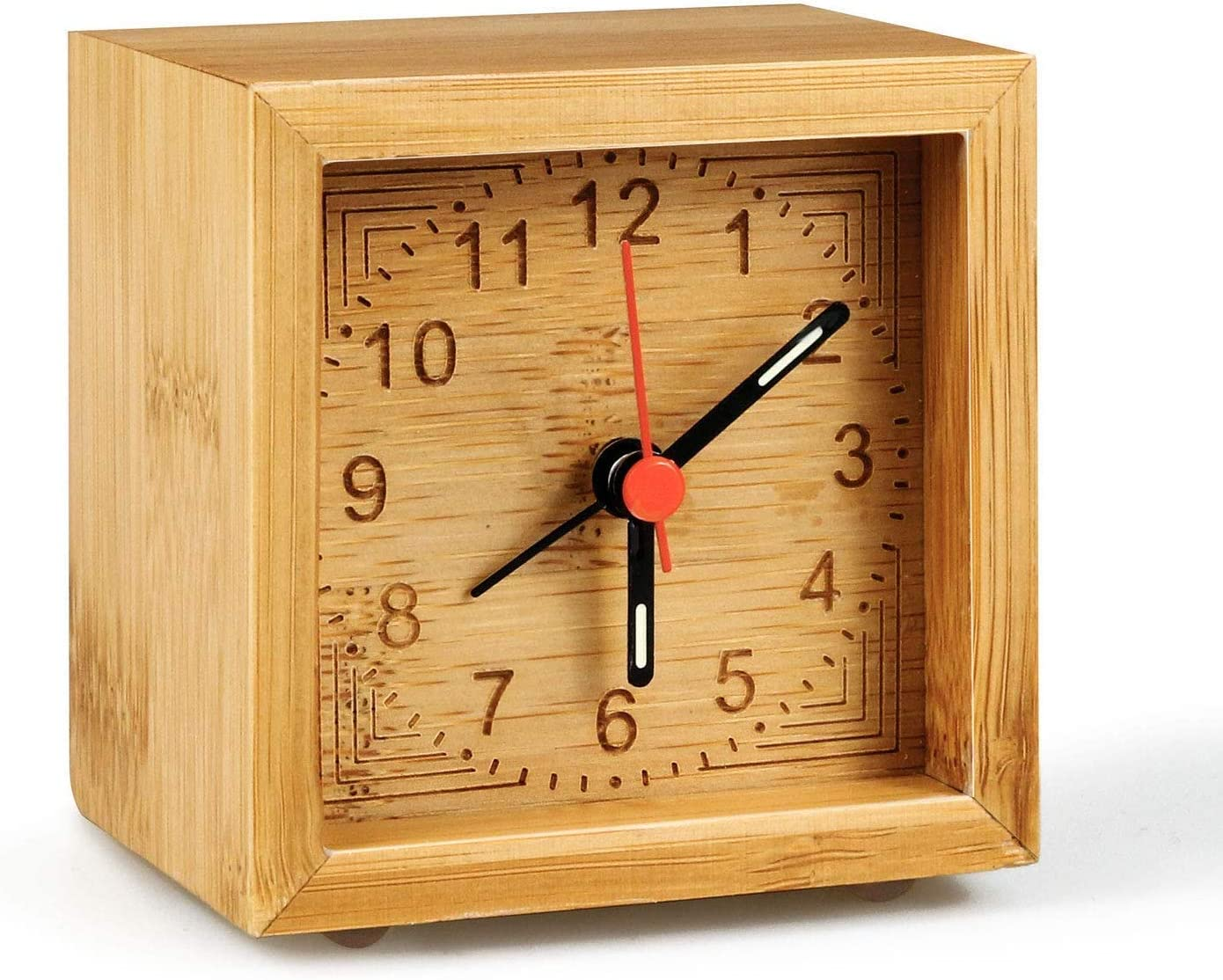It is very popular Winkeyes Alarm Clock Battery Operated Clo High order Bedroom Bamboo Wooden