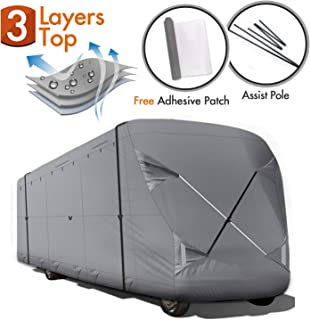 Ripstop Waterproof RVs Covers 37-41 XGEAR RV Cover 5th Wheel RV Cover Thick 3-Ply Top Panel