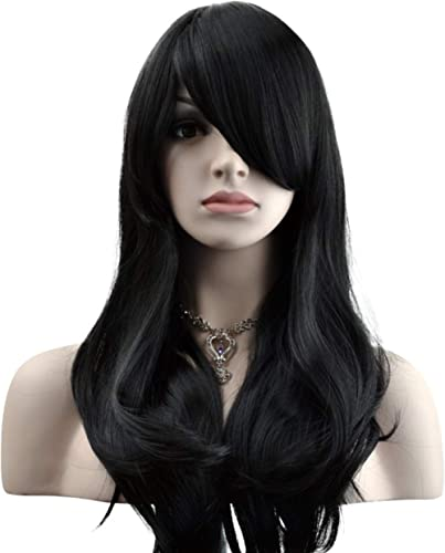"YOPO 28"" Wig Long Big Wavy Hair Women Cosplay Party Costume Wig(Black)"