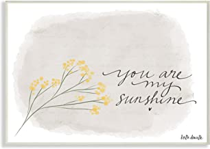 Stupell Home Décor You Are My Sunshine Yellow Flower Illustration Wall Plaque Art, 10 x 0.5 x 15, Proudly Made in USA