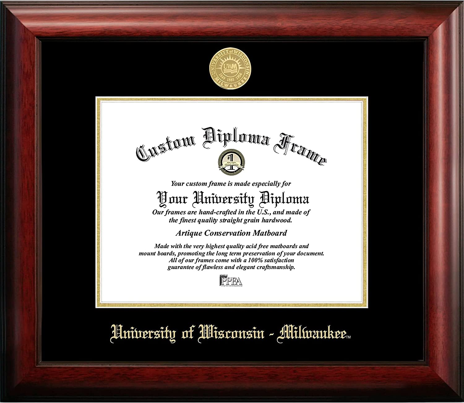 Unknown1 University of Wisconsin 10w Large discharge sale Gold High order X Embossed Diploma 8h