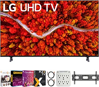 LG 65UP8000PUA 65 Inch 4K UHD Smart webOS TV (2021 Model) Bundle with Premiere Movies Streaming 2020 + 37-100 Inch TV Wall...