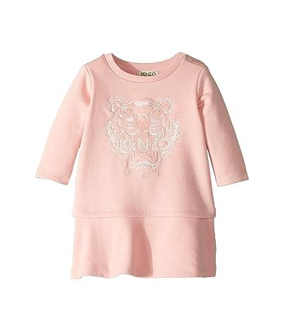 Kenzo Kids Tiger Fleece Dress (Infant) (Middle Pink) Girl