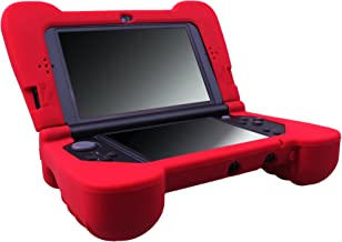 MXRC Silicone Rubber Cover Skin Case Anti-Slip Hand Grip Customize for Nintendo [NEW 3DS XL] x 1 Red, Not for Old 3DS XL