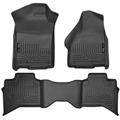 Husky Liners 99011 Black Weatherbeater Front & 2nd Seat Floor Liners Fits 2009-2018 Dodge