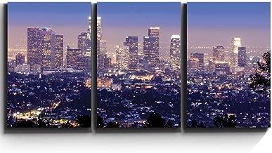 wall26 - Los Angeles Skyline Evening - Canvas Art Wall Decor - 24