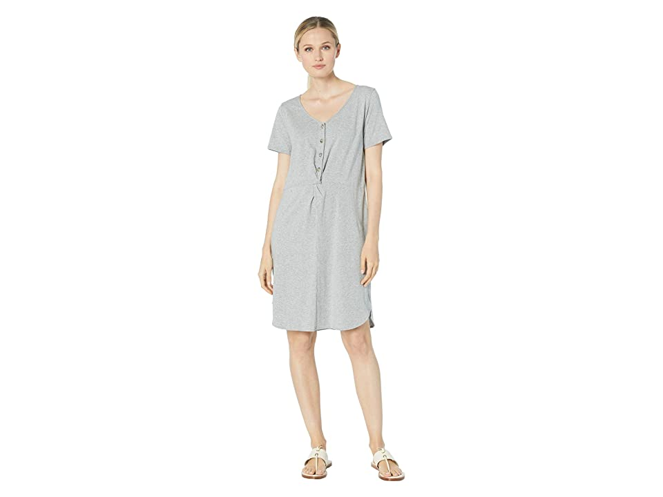 Mod-o-doc Scotton Modal Knotted Button Front Dress (Smoke Heather) Women