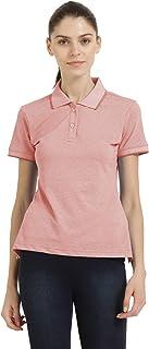 CHKOKKO Premium Cotton Half Sleeves Polo Collar Tshirts & Tee Shirt for Women