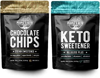 Stevia Sweetened Chocolate Chips, Keto Chocolate Chips and Allulose Sweetener, Keto Sweetener, Keto Sugar, The People's Ke...