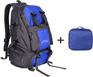 40 Liter Blue Backpack For Outdoor Hiking Camping/Nylon Luggage Bag by Sonyabecca