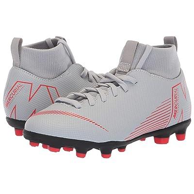Nike Kids Superfly 6 Club MG Soccer (Little Kid/Big Kid) (Wolf Grey/Light Crimson/Black) Kids Shoes