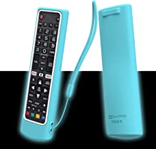 SIKAI Silicone Case for LG Smart TV Remote AKB75095307 AKB75375604 AKB75675304, Shockproof Protective Cover for LG TV Remote Washable Skin-Friendly Sleeve Anti-Lost with Remote Loop (Glow Blue-White)