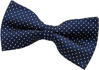 Modern Mini Polka Dots Woven Microfiber Pre-tied Bow Tie (5