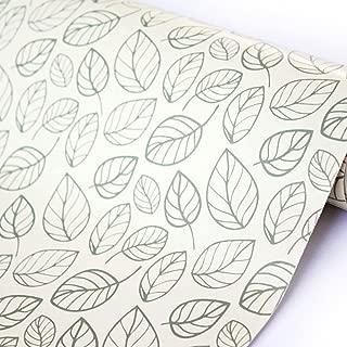 SimpleLife4U Leaf Contact Paper Decorative Self-Adhesive Shelf Liner Dresser Drawer Locker Sticker 17.7 Inch By 9.8 Feet