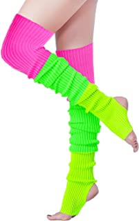 V28 Women Over Knee Cable Knit Ribbed Crochet Long Boot Leg Warmers