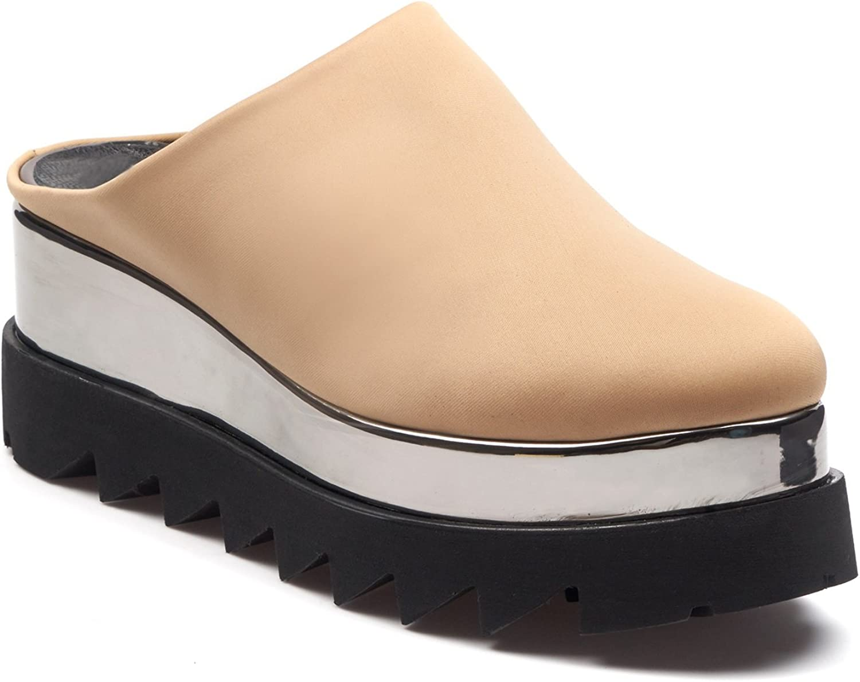 BOBERCK Stella Collection Woherren Back Less Platform Slip on - Fashion Slip on Turnschuhe - Loafer Slip on