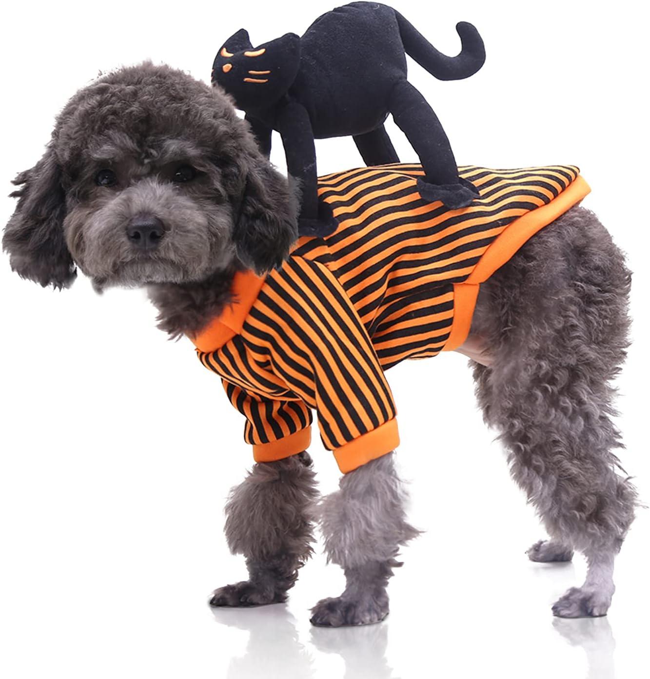 Halloween Disfraz para Perro, Halloween Disfraz Perro Halloween Ropa Gato Halloween Ropa Perro de Halloween para Perros Decoración de Fiesta de Halloween